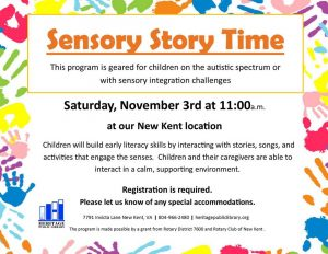 Sensory Story Time @ New Kent Branch | New Kent | Virginia | United States