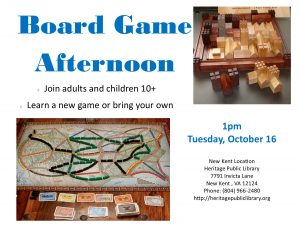 Board Game Afternoon @ Heritage Public Library | New Kent | Virginia | United States