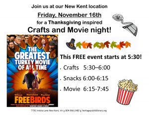 Crafts & Movie Night! @ Heritage Public Library | New Kent | Virginia | United States