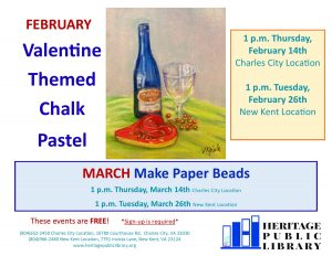 Adult Craft - Chalk Pastels @ New Kent